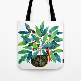 coffee birds 002 Tote Bag