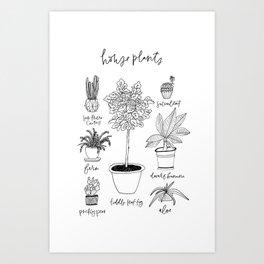 House Plants Print Art Print