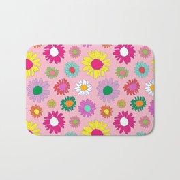 60's Daisy Crazy in Mod Pink Bath Mat