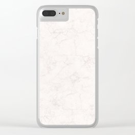 Elegant vintage ivory white stylish marble Clear iPhone Case