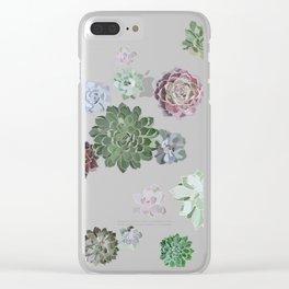 Simple succulents Clear iPhone Case