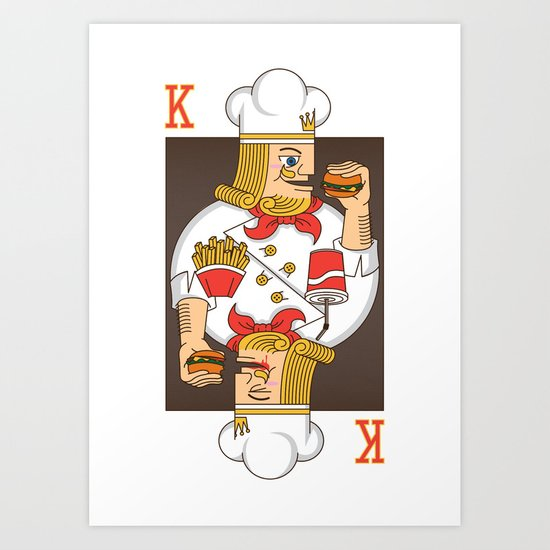 Burger King Art Print