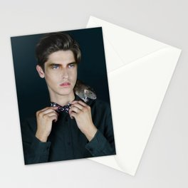 Man with rat Stationery Cards