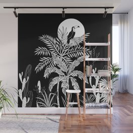 Toucan in the night jungle Wall Mural
