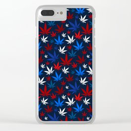 American Weed Pattern Clear iPhone Case