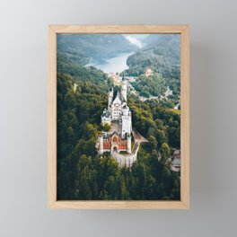 Architecture Neuschwanstein Castle Swangau Bavaria Germany. Fairytale view Framed Mini Art Print