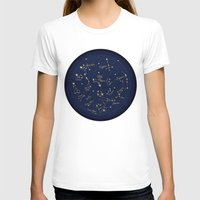 constellations T-shirts featuring Constellations by Cina Catteau