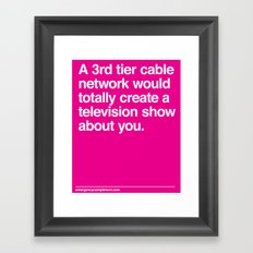 Your Television Show Framed Art Print