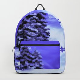 Moon Over The Mountain Backpack