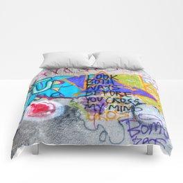 Look Both Ways Comforters