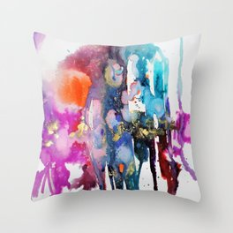 alive and walking (abstract) Throw Pillow