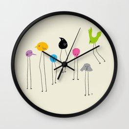 Long-legged bird Wall Clock