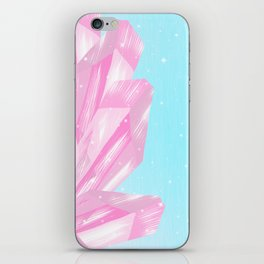 Sparkly Pinky Crystals Design iPhone Skin