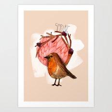 Spring birdy / Nr. 5 Art Print