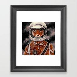 Tiger Astronaut Framed Art Print