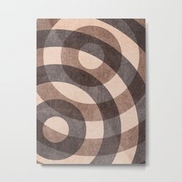 ABSTRACT ALPHABET / Decorative O Metal Print