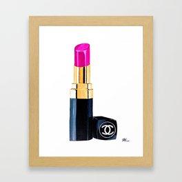 Pink Lipstick Framed Art Print