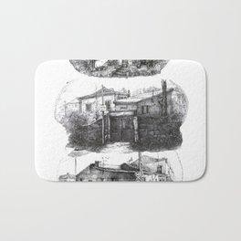 old house sketch Bath Mat