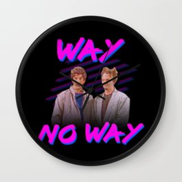 Way No Way (best boys band of 80s) Wall Clock