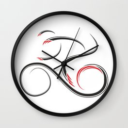 Geomissium - the bike rider Wall Clock