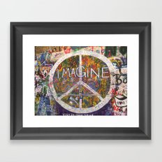 Imagine - Lennon Wall Framed Art Print