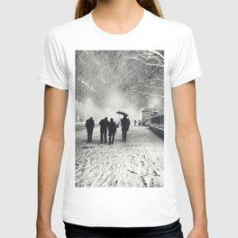 New York City Snow Bryant Park T-shirt