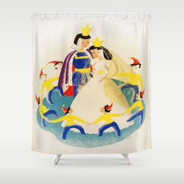 Vintage poster - Snow White Shower Curtain