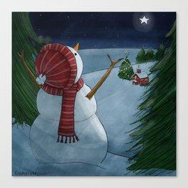 Snowman Joy Canvas Print