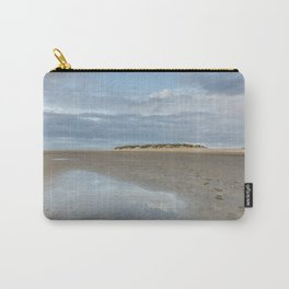 Sunset sky reflected in a water at low tide. Wells-next-the-sea, Norfolk, UK. Carry-All Pouch