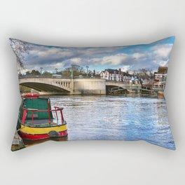 Caversham Bridge in Reading Rectangular Pillow