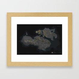 Wattopia Map 2020 Framed Art Print