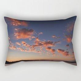 Puffy, pink Puget Sound sunset Rectangular Pillow