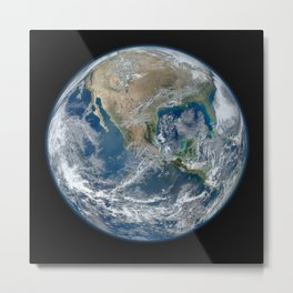 North America from Low Orbit Metal Print
