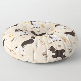 English Springer Spaniel coffee lover dog breed pet portraits custom dog gifts Floor Pillow