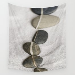 zen pebble line Wall Tapestry