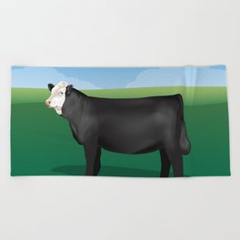 Black Simmental // Dawn Beach Towel