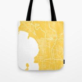 Burlington map yellow Tote Bag