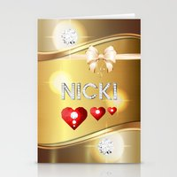 nicki Stationery Cards featuring Nicki 01 by Daftblue
