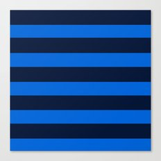 Blue Horizontal Stripes Graphic Canvas Print
