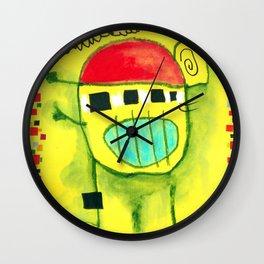 Nen trapella amb gorra Wall Clock
