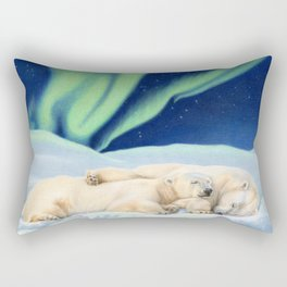 Under The Northern Lights Rectangular Pillow