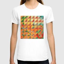 Contemporary Sunny Geometric Design T-shirt