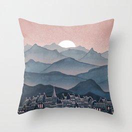 Seek - Sunset Mountains Throw Pillow