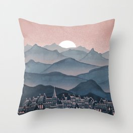 Seek - Sunset Mountains Throw Pillow