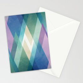 Abstract diamond crystals Stationery Cards