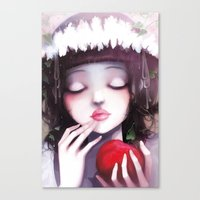 snow Canvas Prints featuring Snow white by Ludovic Jacqz
