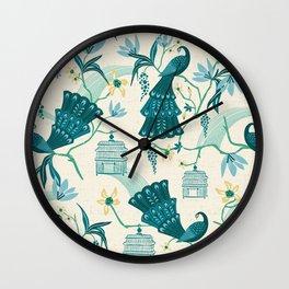 Aviary - Cream Wall Clock