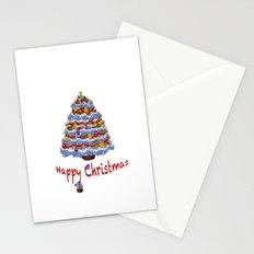 Cape Cod Hydrangea Christmas tree Stationery Cards