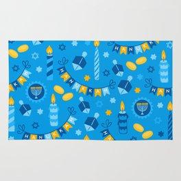 Happy Hanukkah Banner Pattern Rug