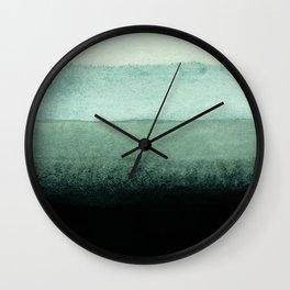 shades of green Wall Clock